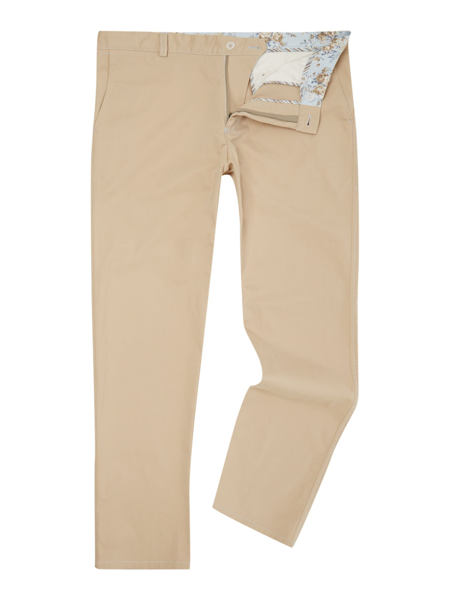 Magee Men's Magee Straight Leg Tailored Trousers, Cream
