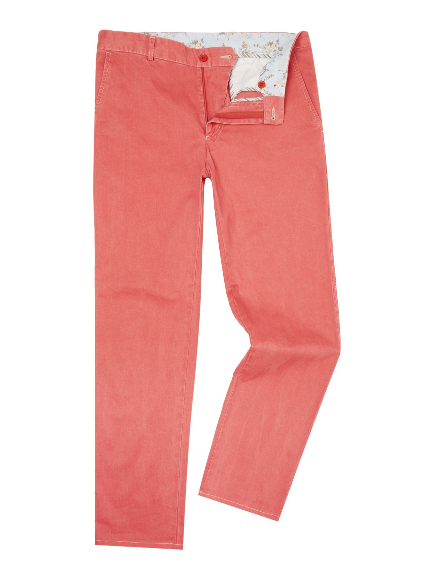 Magee Men's Magee Straight Leg Tailored Trousers, Pink