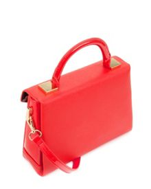 Mariza patent crosshatch bag