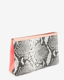 Reni Exotic coloured leather clutch