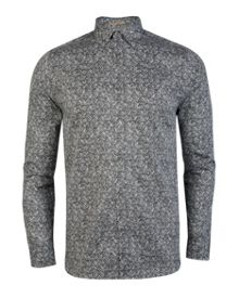 Zebrin Print Classic Fit Long Sleeve Button Down