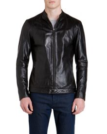 Kennit Stab Stitch Front Leather Jacket