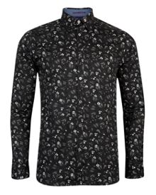 Noface Floral Classic Fit Long Sleeve Classic Col