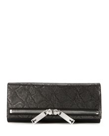 Eloise Large textured clutch
