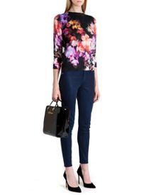 Dumia cascading floral sweater
