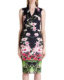 Jalita Mirrored tropics midi dress