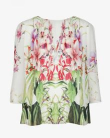 Zumbel mirrored tropics pleated blouse