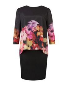 Cadie Cascading floral layered tunic