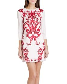Odana China red print tunic dress