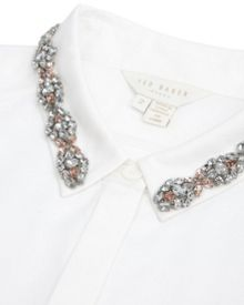 Lapina embellished collar shirt