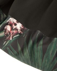 Udiya palm floral pleat skirt