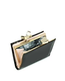 Helan small patent crystal purse