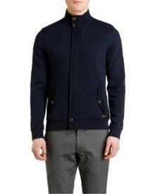 Trustyu Plain Funnel Neck Zip Fastening Cardigan