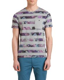 Aldale Stripe Crew Neck Regular Fit T-Shirt