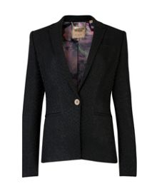 Venei Textured snake suit jacket