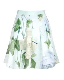 Maari printed pleat skirt