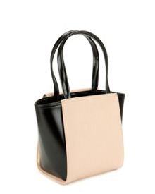 Allira small patent crosshatch shopper