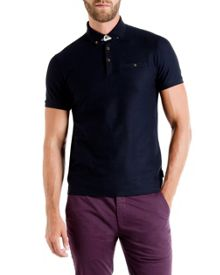 Tiptoe geo textured polo shirt