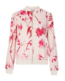 Reubena botanical bloom printed bomber