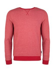 Crosbie Herringbone Crew Neck Sweatshirt