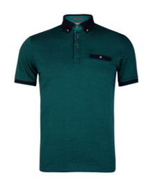 Thorpey colour block polo shirt