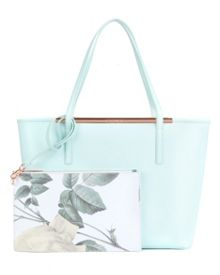 Tulip Crosshatch leather shopper