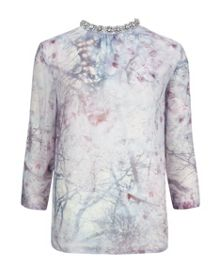 Fappey Snow blossom embellished top