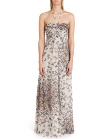 Calipso butterfly print maxi dress