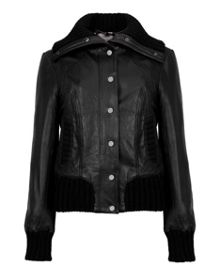 Arlene Leather bomber jacket