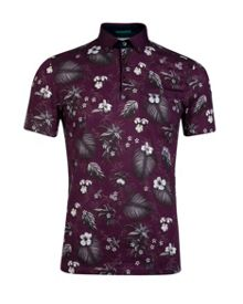 Format Tropical Print Polo Shirt