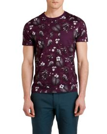 Formala Tropical Print Crew Neck T-Shirt