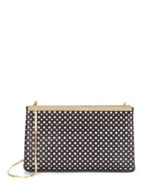 Kala cut out leather clutch bag
