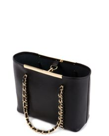 Clover small metal chain shopper
