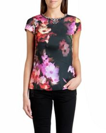 Arai embellished floral top