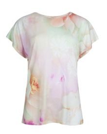 Lagita rose on canvas t-shirt