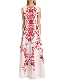 Nelum China red maxi dress