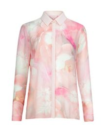 Rosle rose on canvas shirt