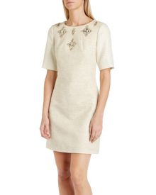 Yara embellished shift dress