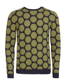 Nivpot Polka Dot Crew Neck Pull Over Jumpers