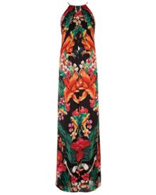 Mircana tropical toucan maxi dress