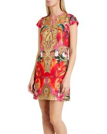 Aalia Paisley toucan tunic dress