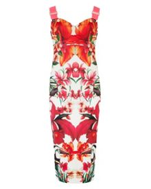 Jameela tropical toucan midi dress