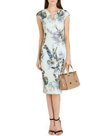 Bavaria Floral midi dress