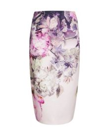 Demii Pure peony ombre pencil skirt
