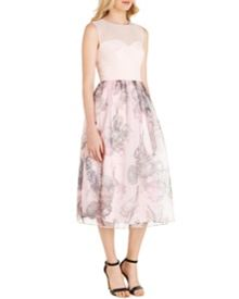 Ted Baker Faunia Torchlit floral ballerina dress