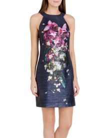 Therese Fuchsia Floral tunic dress