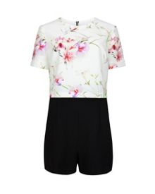 Estyy mirrored tropics playsuit