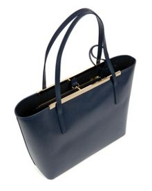 Isbell Leather crosshatch shopper