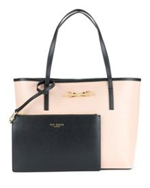 Isabow Crosshatch leather shopper