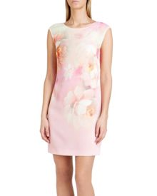 Damona rose on canvas tunic dress